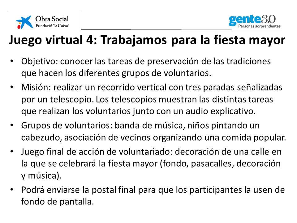 Juego virtual 4: Trabajamos para la fiesta mayor