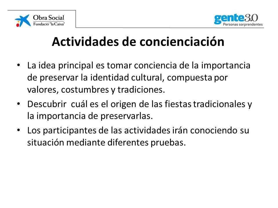 Actividades de concienciación
