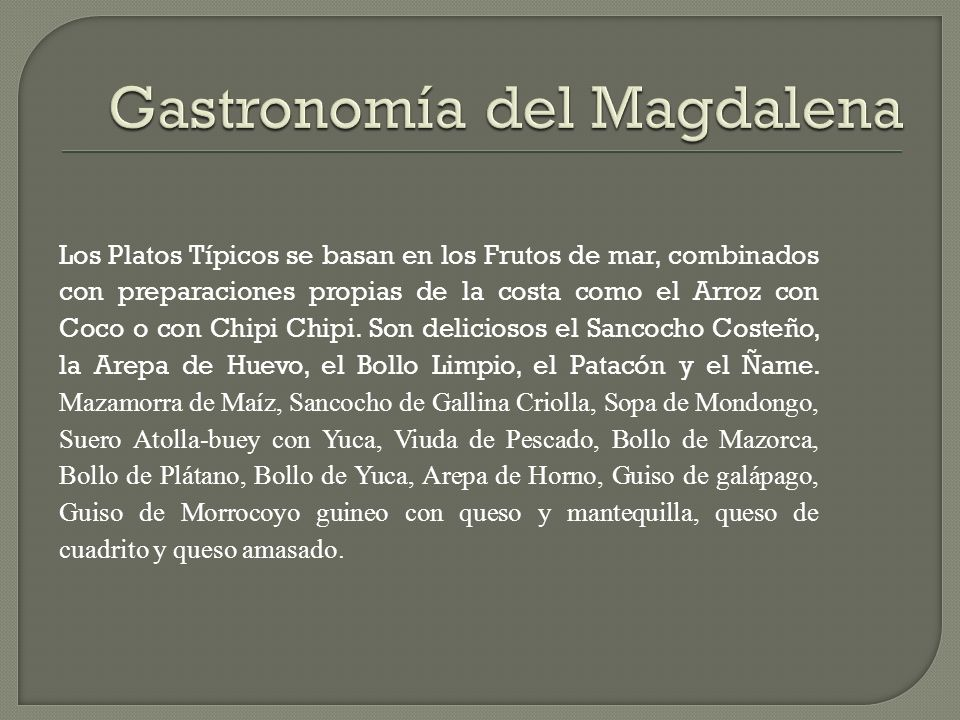Gastronomía del Magdalena