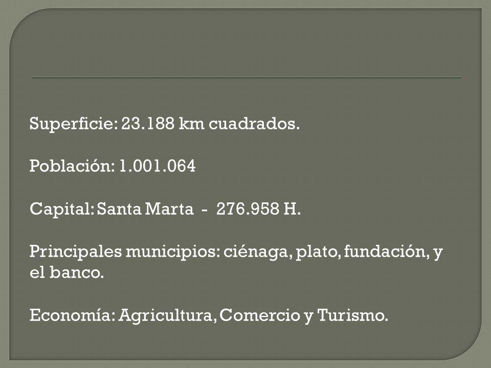 Superficie: 23. 188 km cuadrados. Población: 1. 001