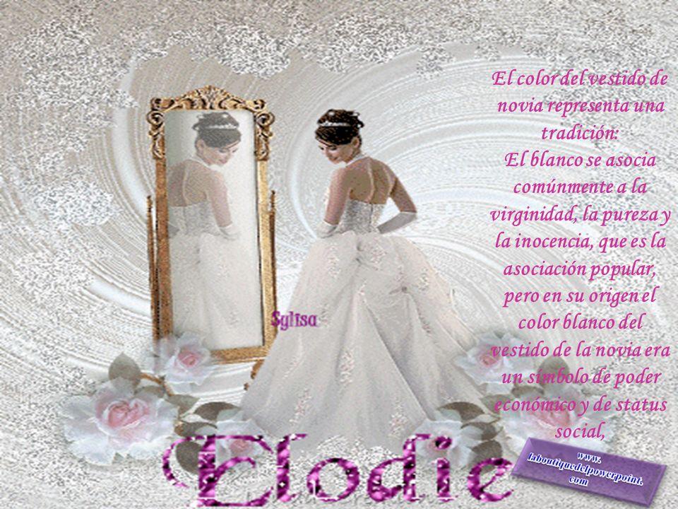 El color del vestido de novia representa una tradición: