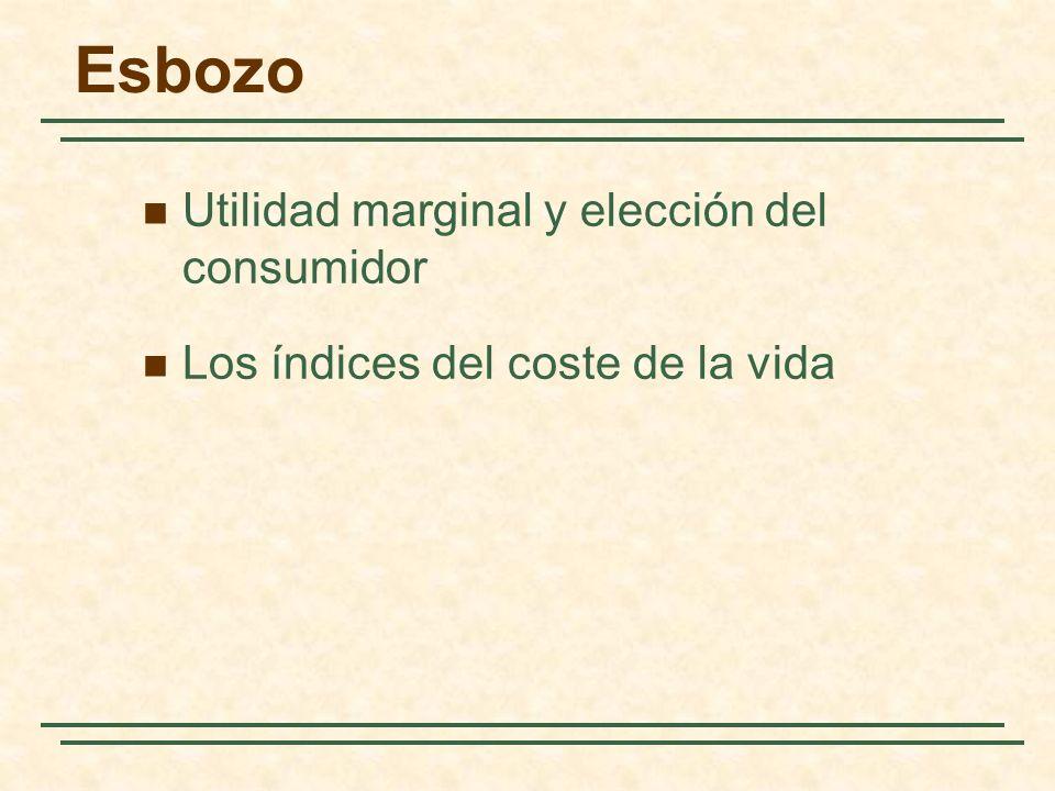 Esbozo Utilidad marginal y elección del consumidor
