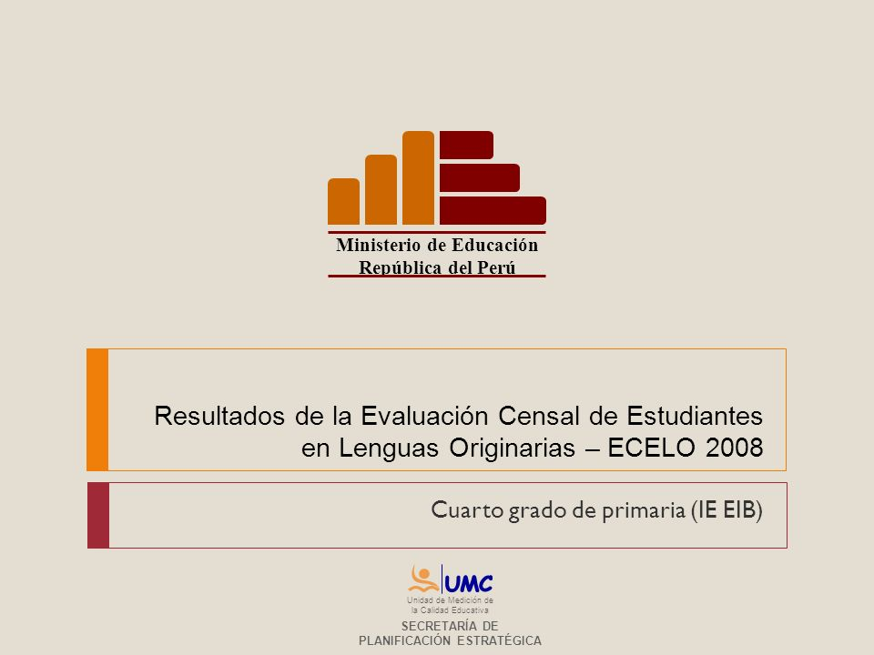 Cuarto grado de primaria (IE EIB)