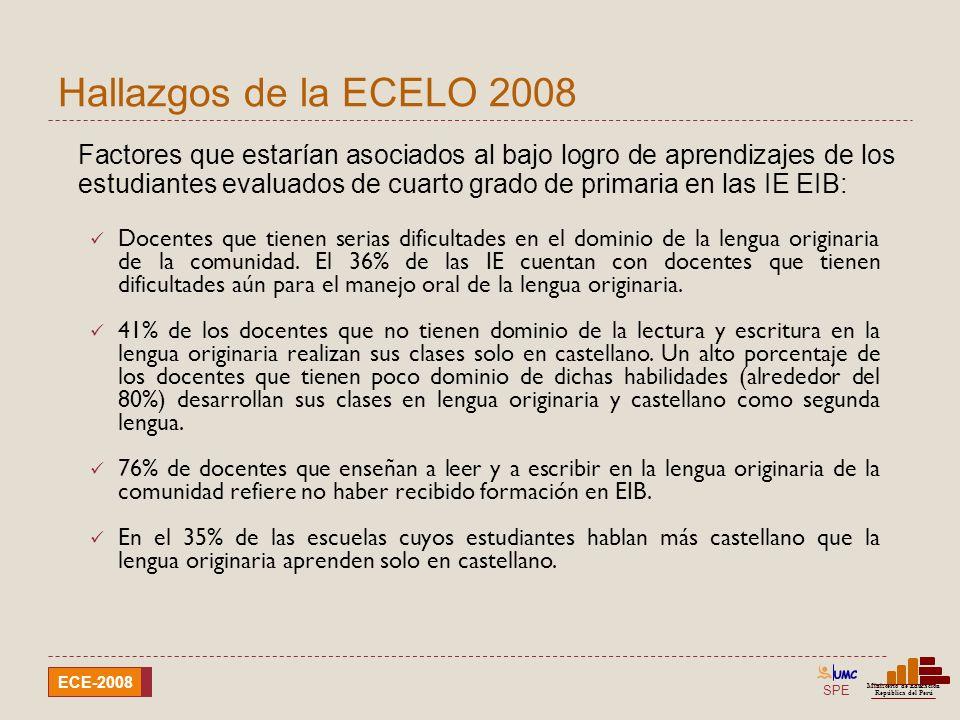 Hallazgos de la ECELO 2008