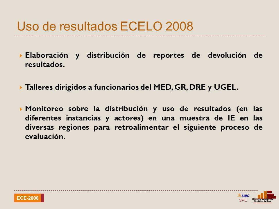 Uso de resultados ECELO 2008