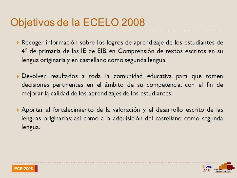 Objetivos de la ECELO 2008