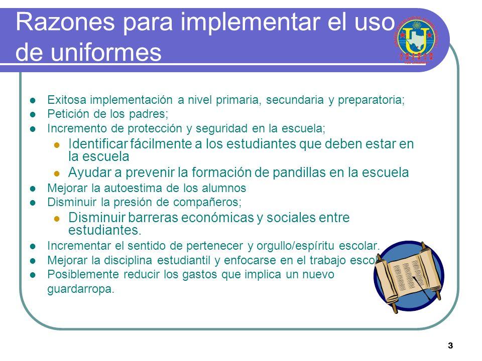 Razones para implementar el uso de uniformes