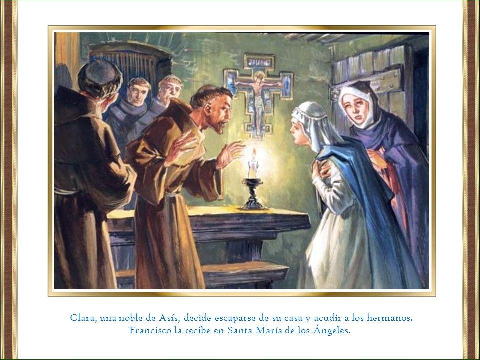 Francisco la recibe en Santa María de los Ángeles.
