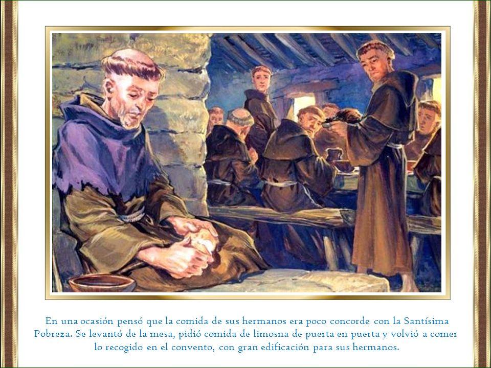 lo recogido en el convento, con gran edificación para sus hermanos.