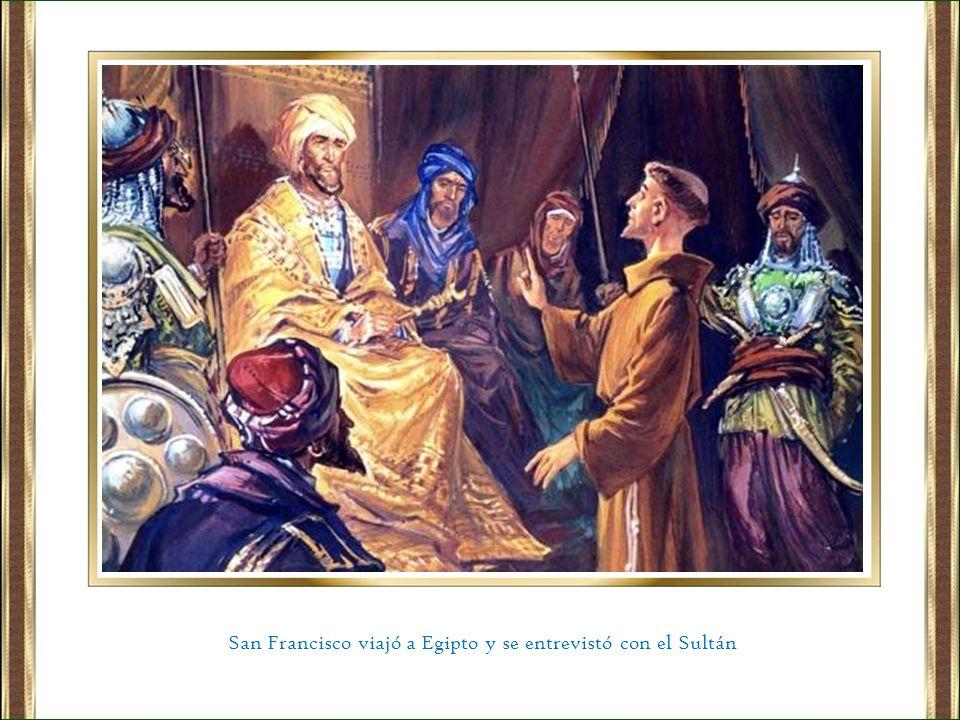 San Francisco viajó a Egipto y se entrevistó con el Sultán