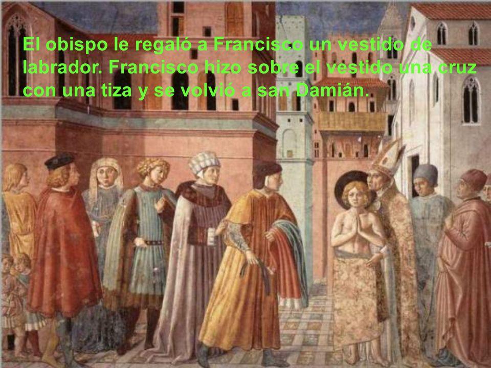El obispo le regaló a Francisco un vestido de labrador
