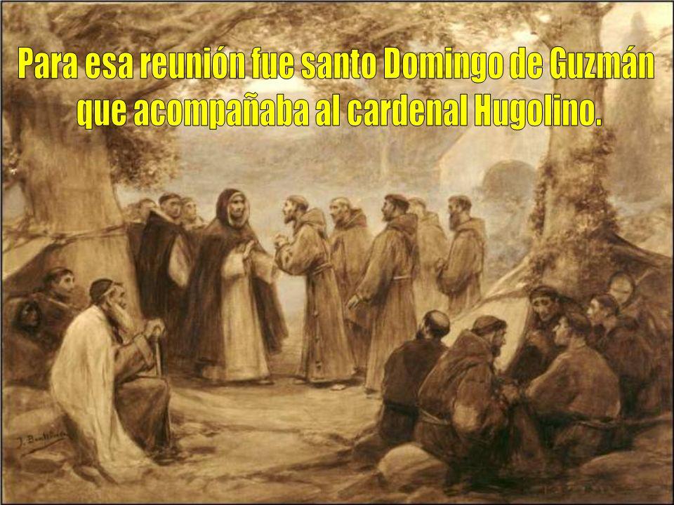 Para esa reunión fue santo Domingo de Guzmán