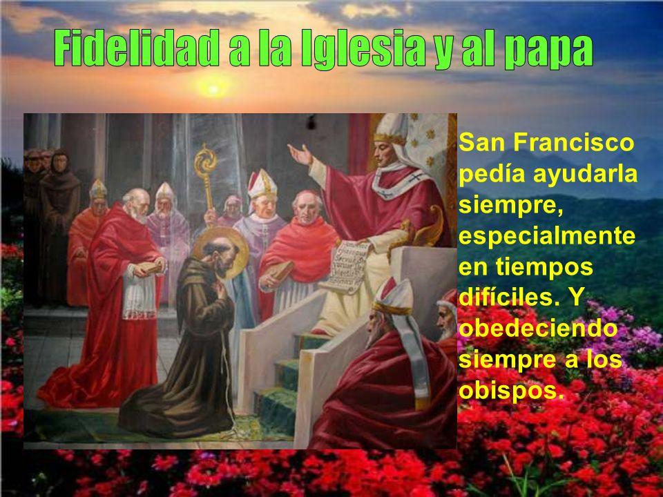 Fidelidad a la Iglesia y al papa