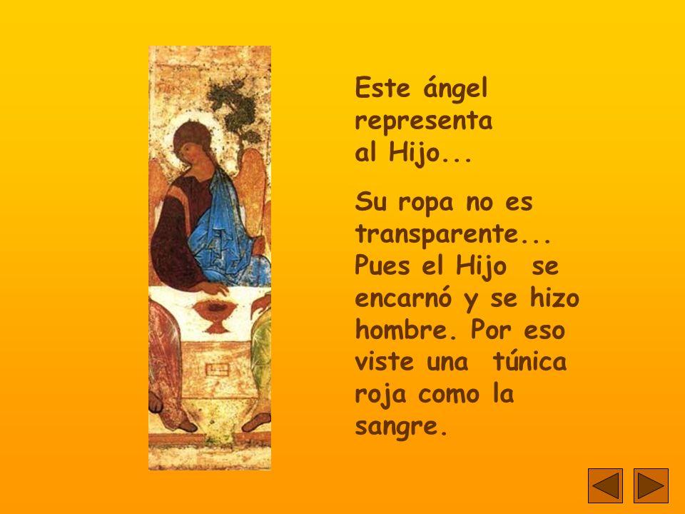 Este ángel representa al Hijo...