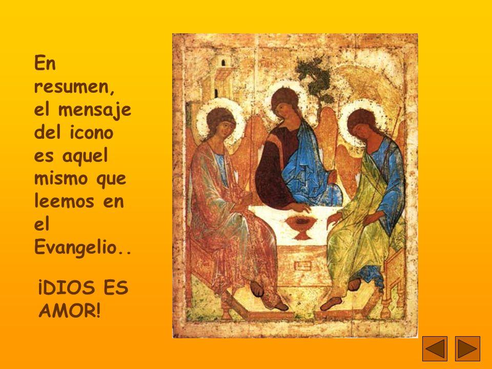 En resumen, el mensaje del icono es aquel mismo que leemos en el Evangelio..