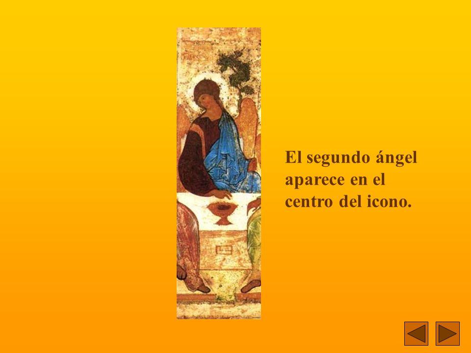 El segundo ángel aparece en el centro del icono.