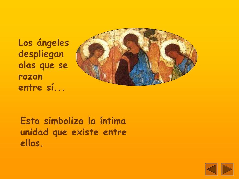 Los ángeles despliegan alas que se rozan entre sí...