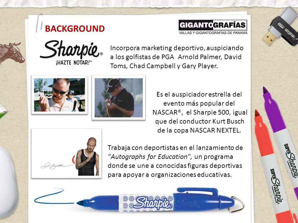 BACKGROUND Incorpora marketing deportivo, auspiciando