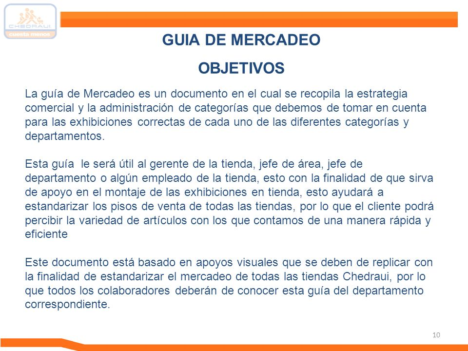 GUIA DE MERCADEO OBJETIVOS