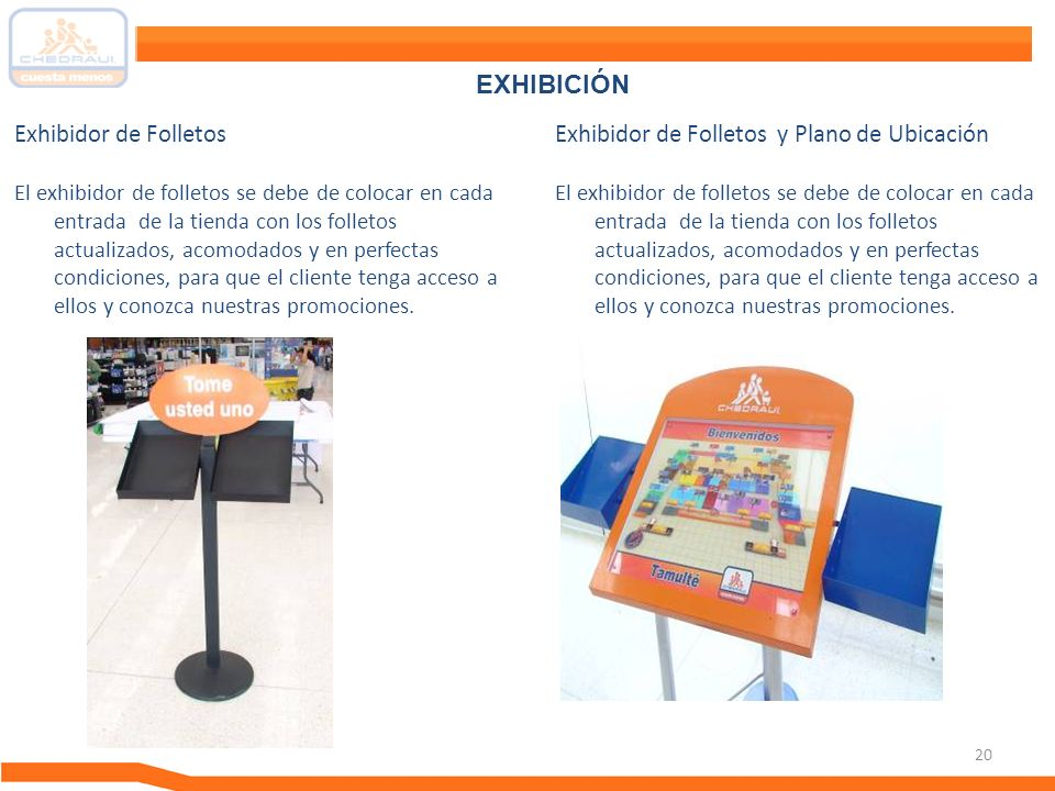 EXHIBICIÓN Exhibidor de Folletos