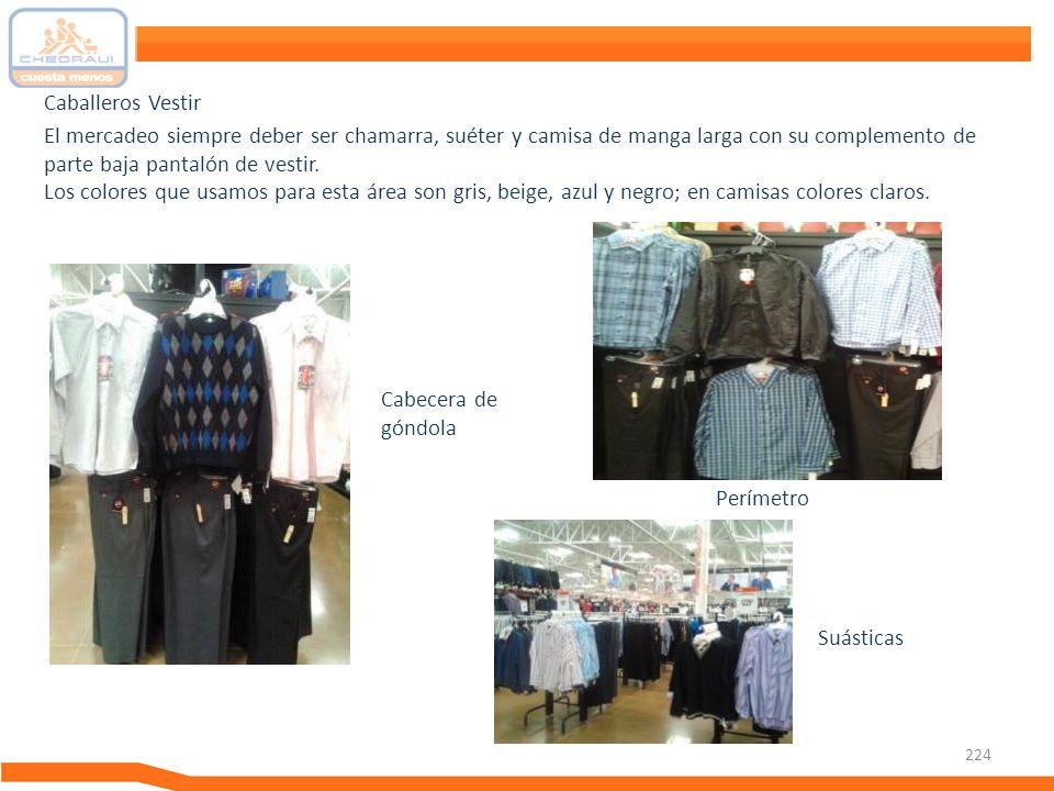 Caballeros Vestir El mercadeo siempre deber ser chamarra, suéter y camisa de manga larga con su complemento de parte baja pantalón de vestir.