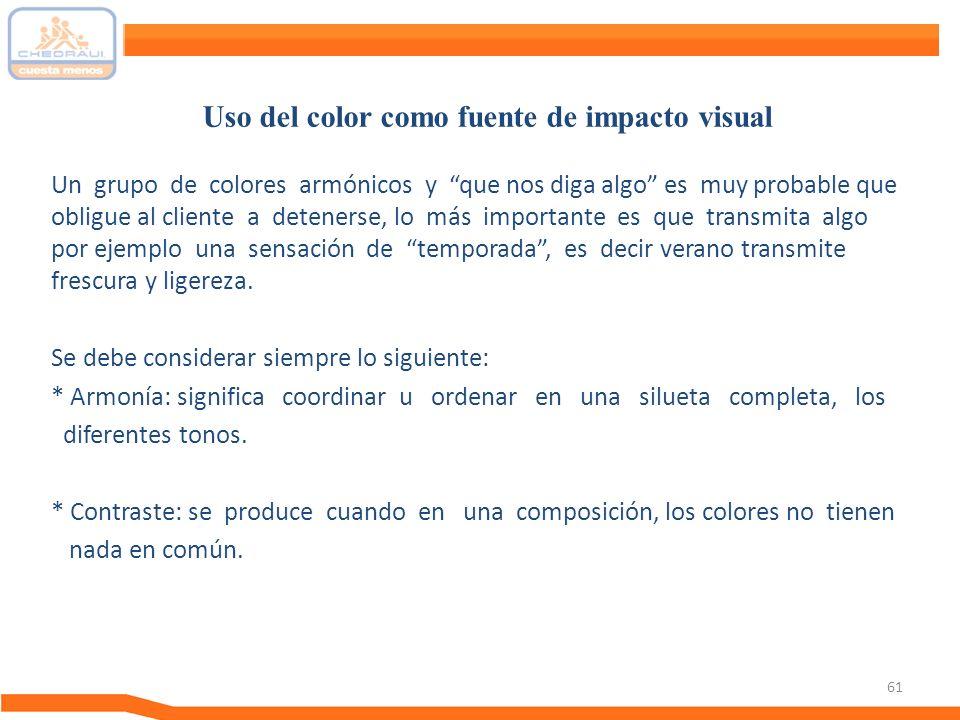 Uso del color como fuente de impacto visual