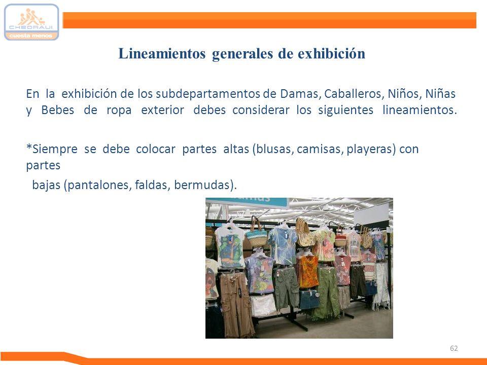 Lineamientos generales de exhibición