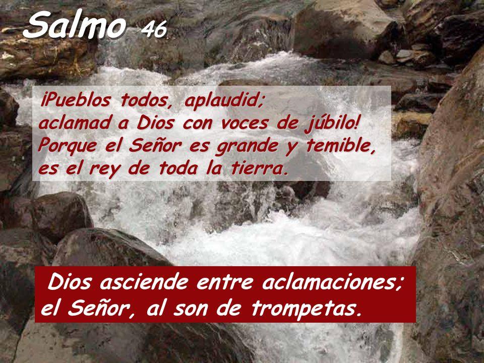 Salmo 46 Dios asciende entre aclamaciones;