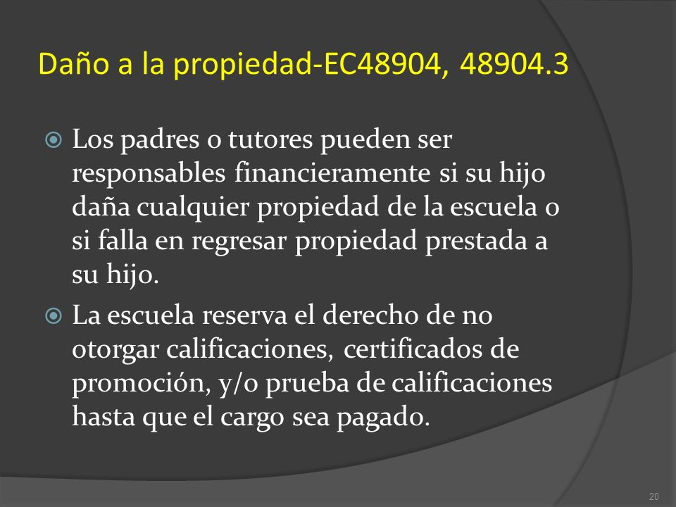 Daño a la propiedad-EC48904, 48904.3