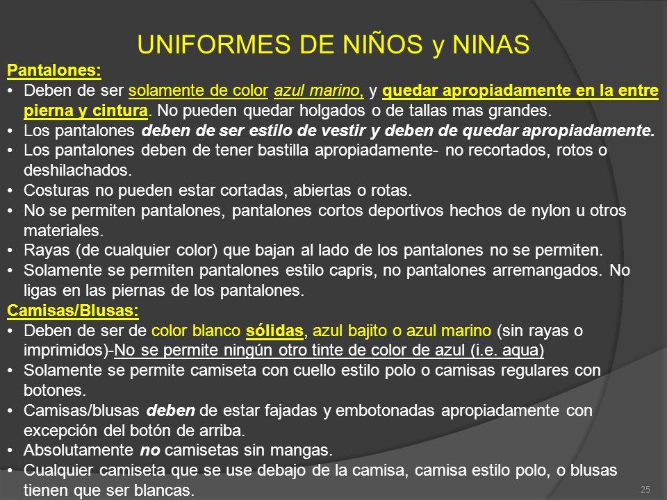 UNIFORMES DE NIÑOS y NINAS