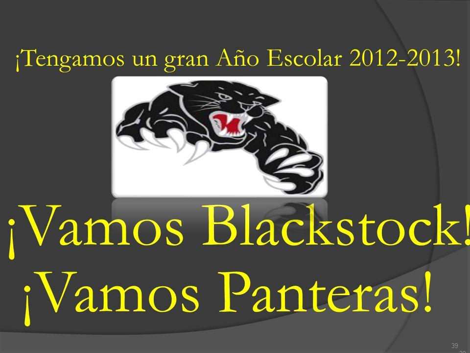 ¡Vamos Blackstock! ¡Vamos Panteras!