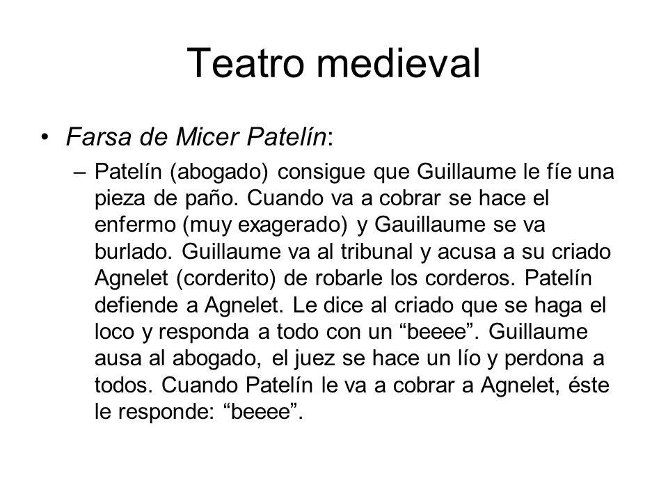 Teatro medieval Farsa de Micer Patelín: