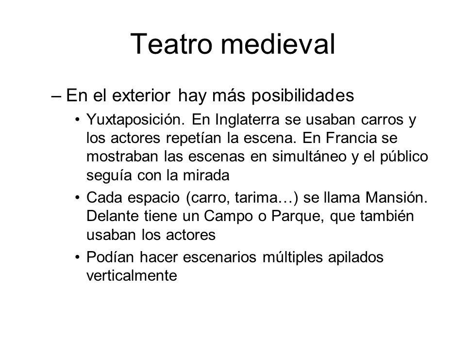 Teatro medieval En el exterior hay más posibilidades