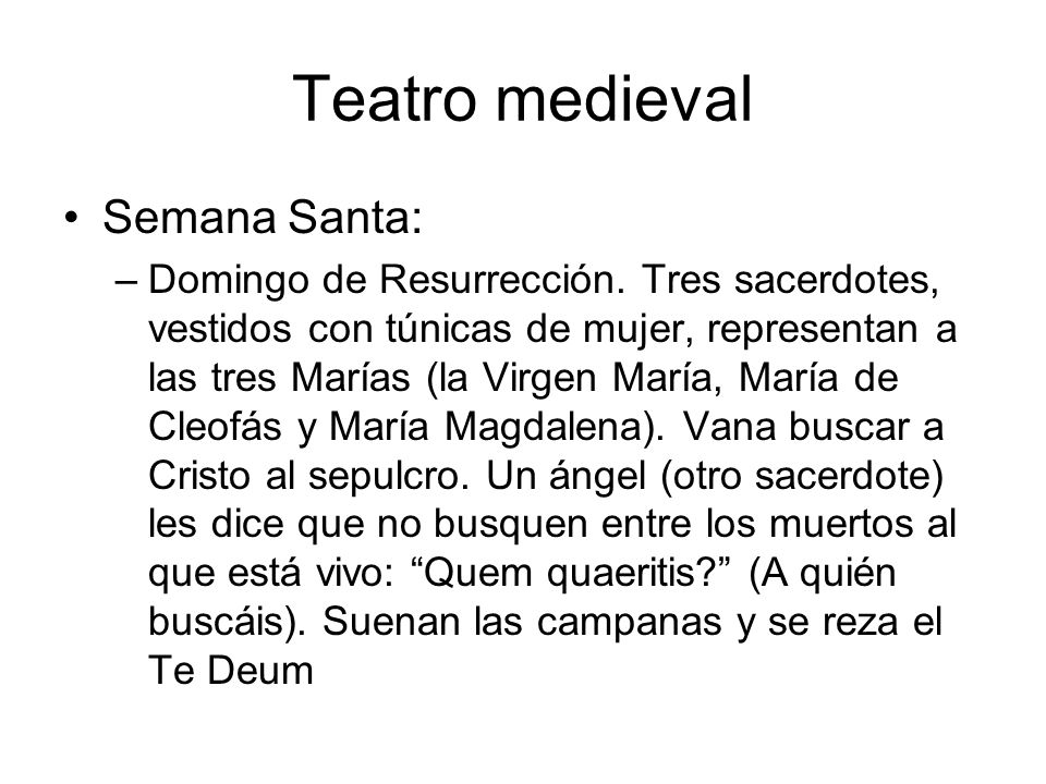 Teatro medieval Semana Santa: