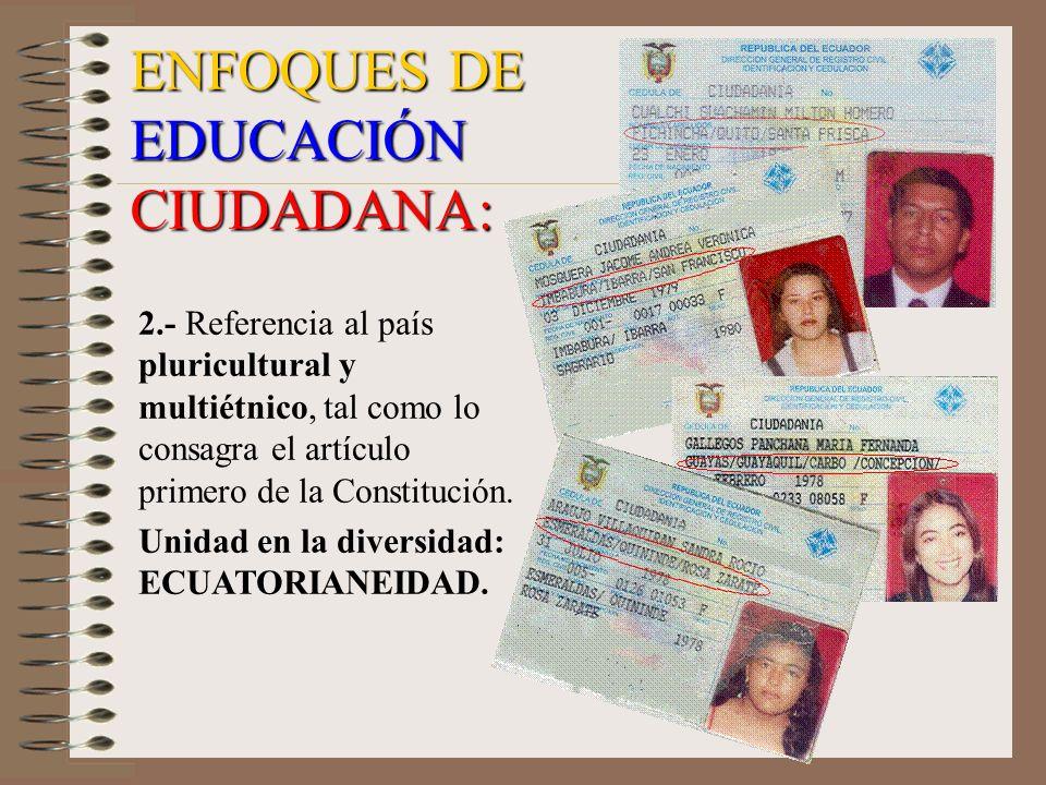 ENFOQUES DE EDUCACIÓN CIUDADANA: