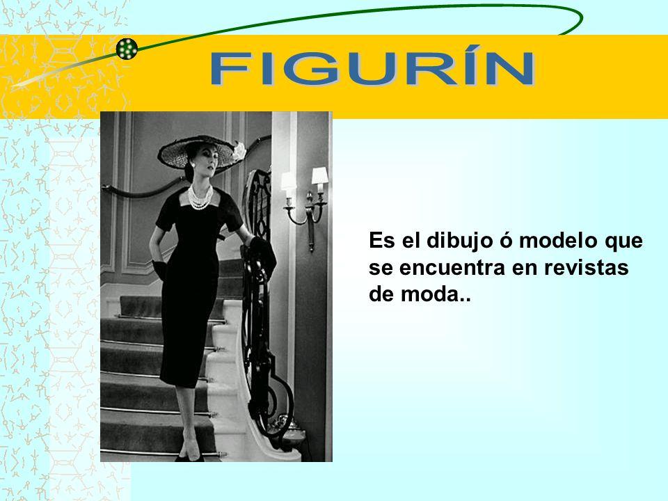 FIGURÍN Es el dibujo ó modelo que se encuentra en revistas de moda..
