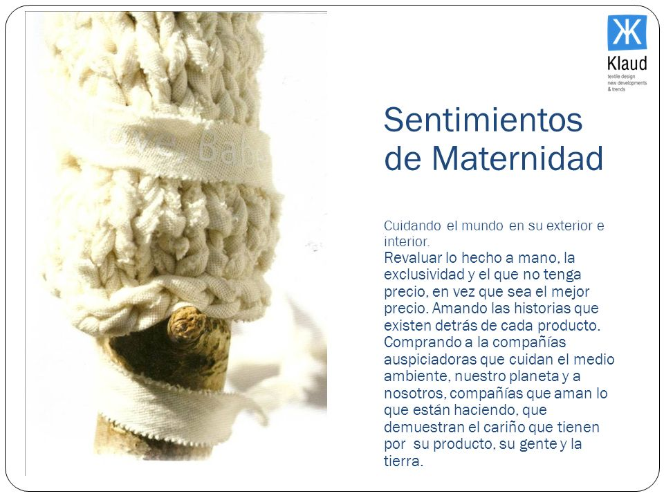 El Mercado Sentimientos de Maternidad Cuidando el mundo en su exterior e interior.