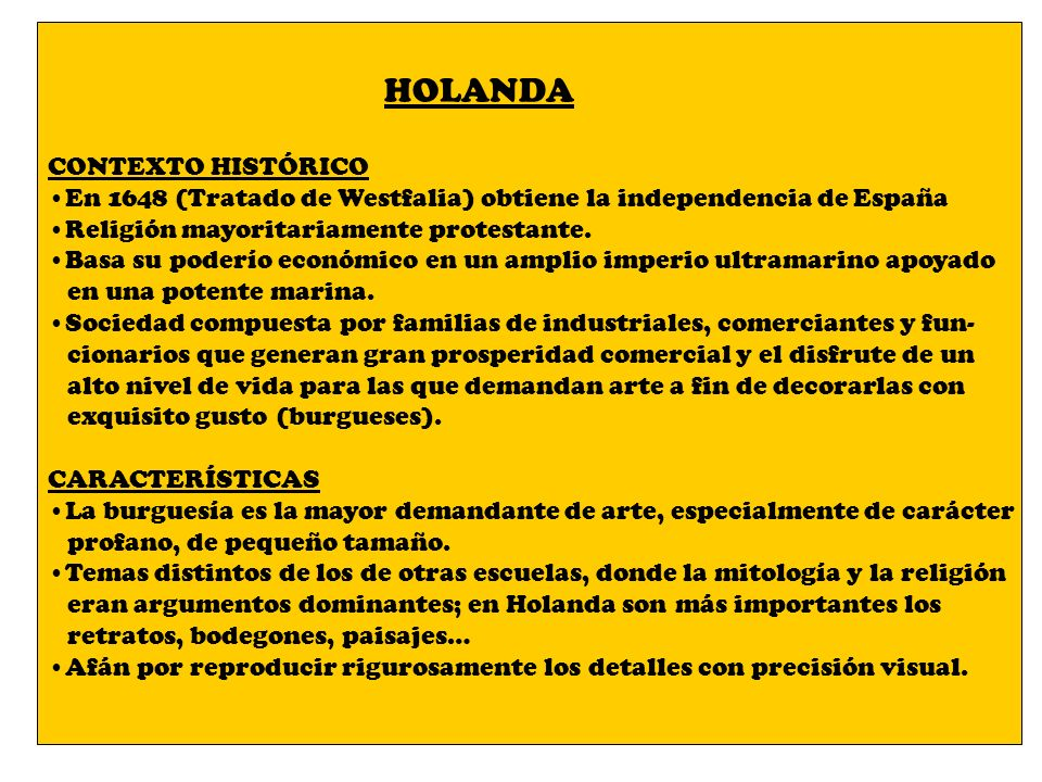 HOLANDA CONTEXTO HISTÓRICO