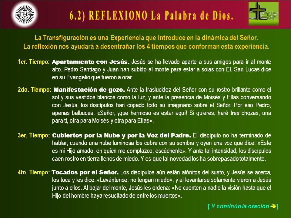 6.2) REFLEXIONO La Palabra de Dios.