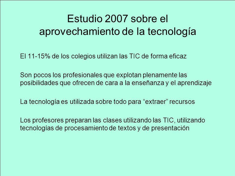 Estudio 2007 sobre el aprovechamiento de la tecnología