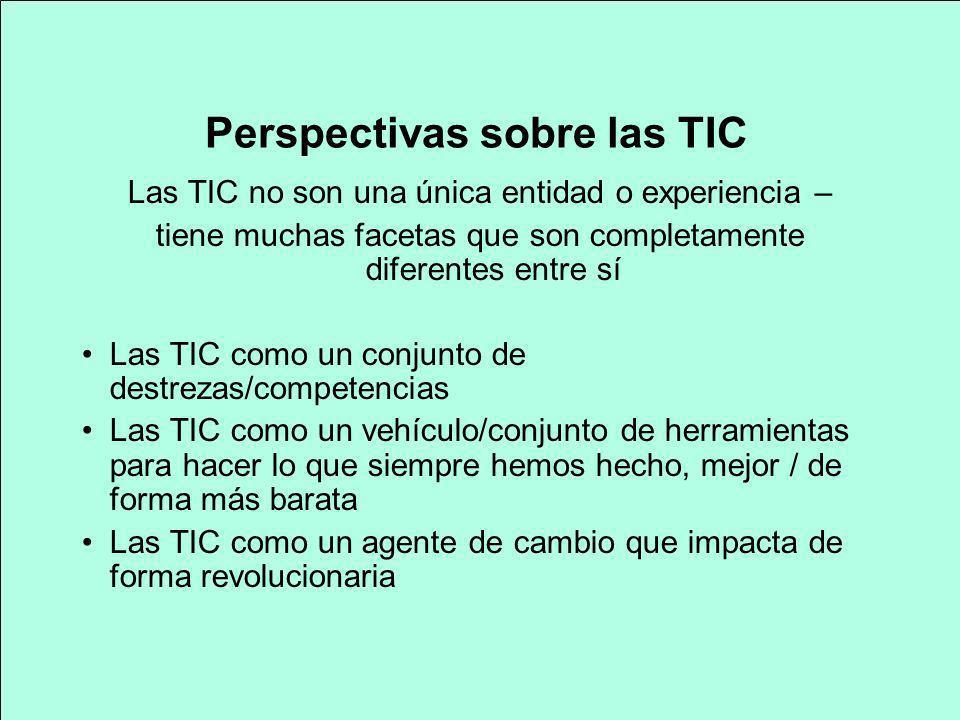 Perspectivas sobre las TIC