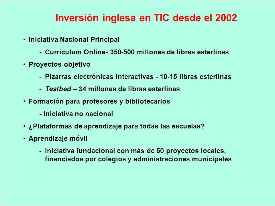 Inversión inglesa en TIC desde el 2002