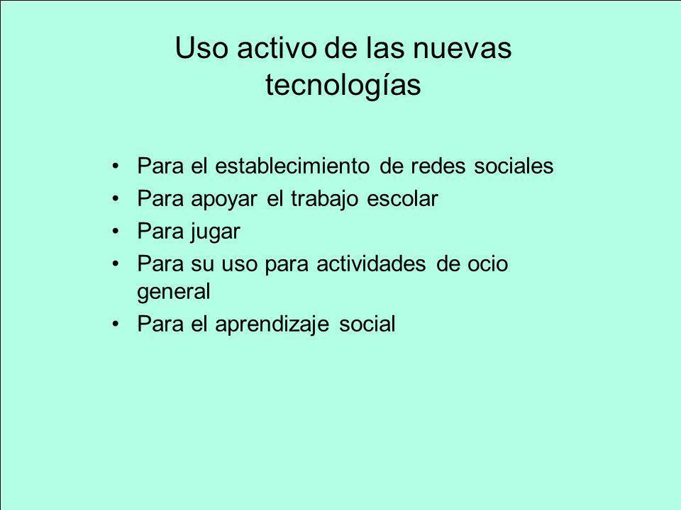 Uso activo de las nuevas tecnologías