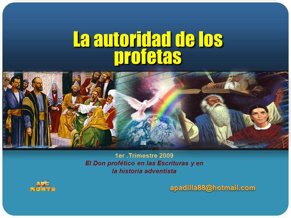 La autoridad de los profetas