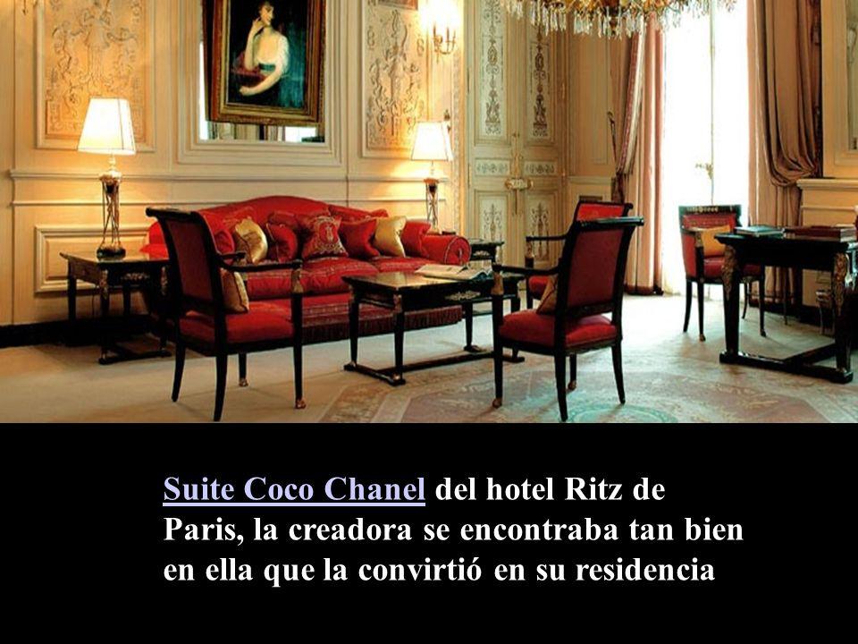 Suite Coco Chanel del hotel Ritz de Paris, la creadora se encontraba tan bien en ella que la convirtió en su residencia