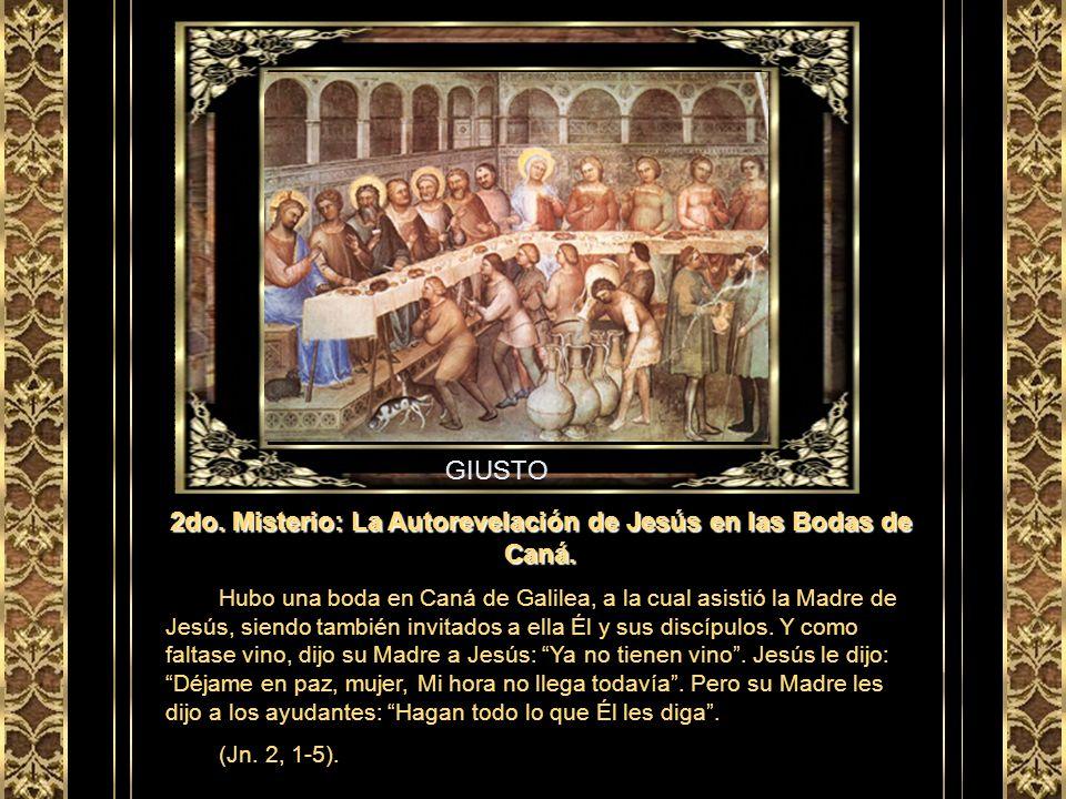 2do. Misterio: La Autorevelación de Jesús en las Bodas de Caná.