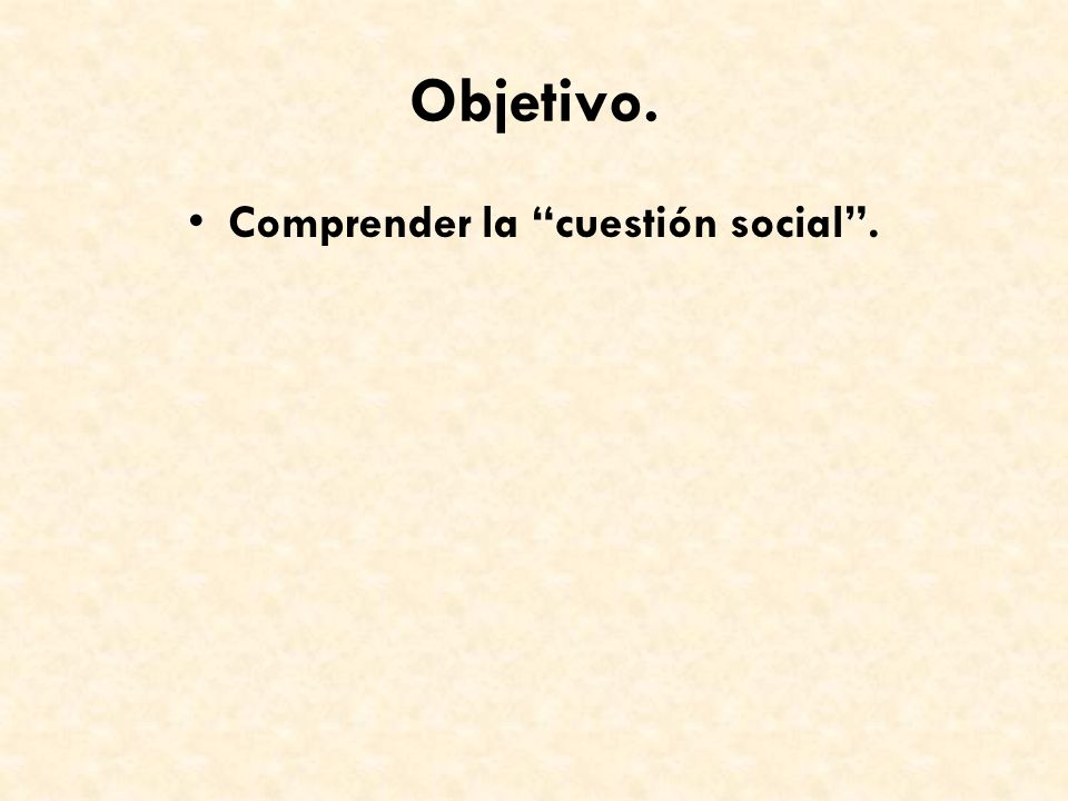 Comprender la cuestión social .