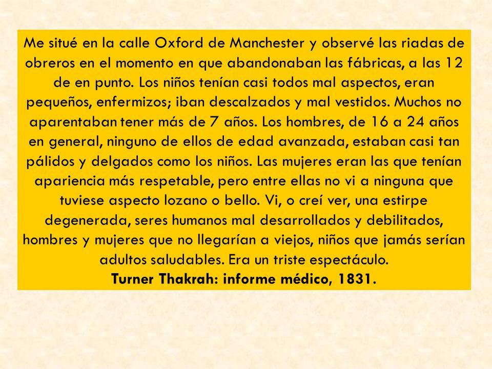 Turner Thakrah: informe médico, 1831.