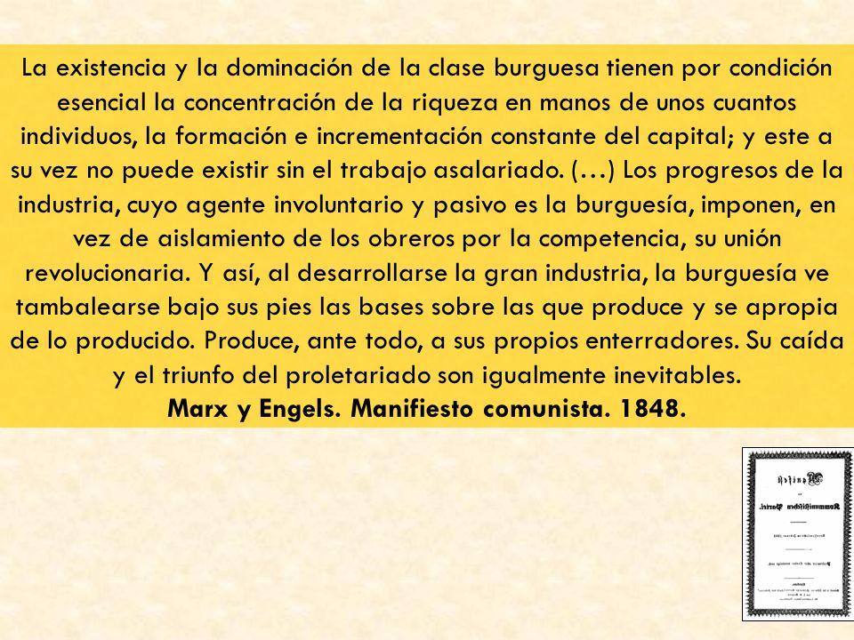 Marx y Engels. Manifiesto comunista. 1848.
