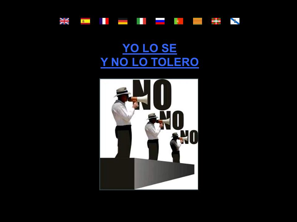 YO LO SE Y NO LO TOLERO